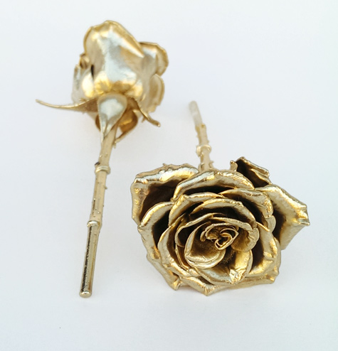 Add Engraved Message On Gold Plated Tag For 25 Extra Up To 42 Characters Does Not Delay Order Example Shown Rose Stem