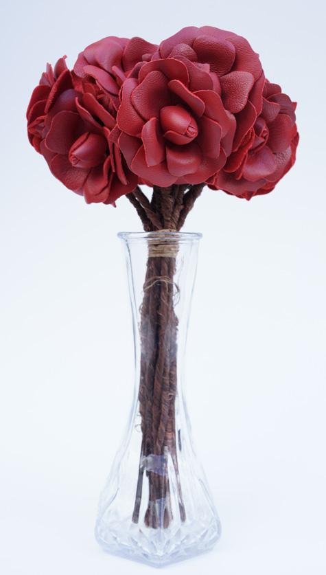 Leather Flowers - Unique Leather Gift Idea