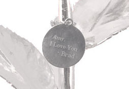 Engraved Tag on Rose Stem